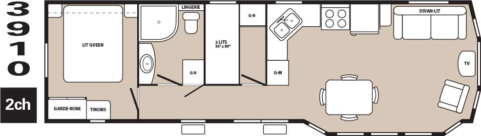 am nagements int rieurs roulotte de parc satellite. Black Bedroom Furniture Sets. Home Design Ideas